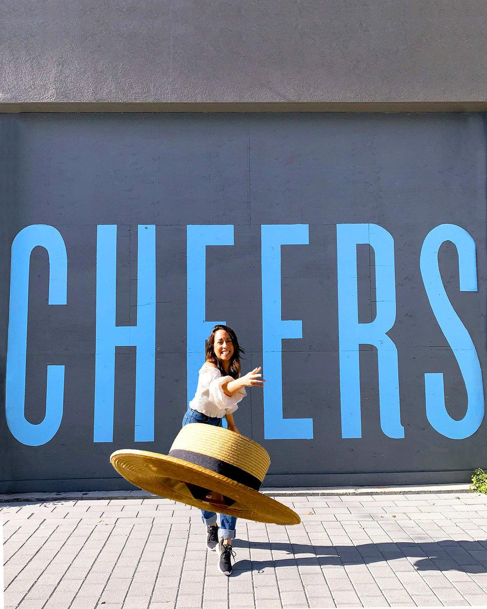 Downtown Napa Cheers wall art
