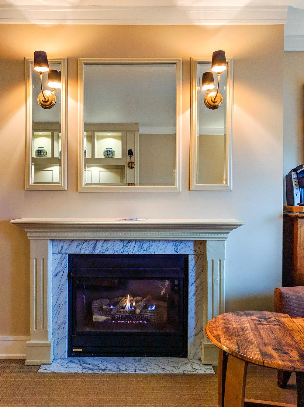 Napa River Inn fireplace