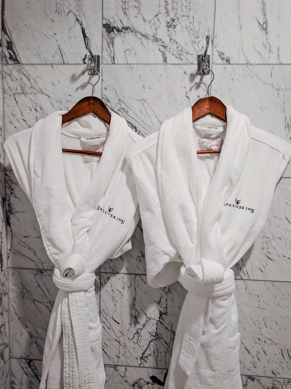 Napa River Inn robes