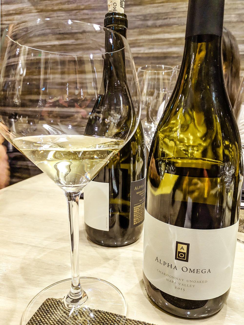 AO Winery white wine bottles
