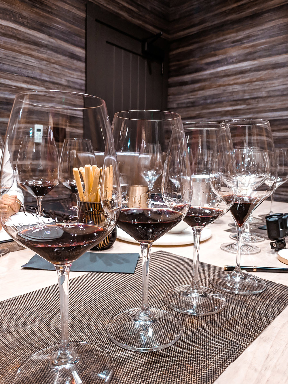 AO Winery red wine tasting