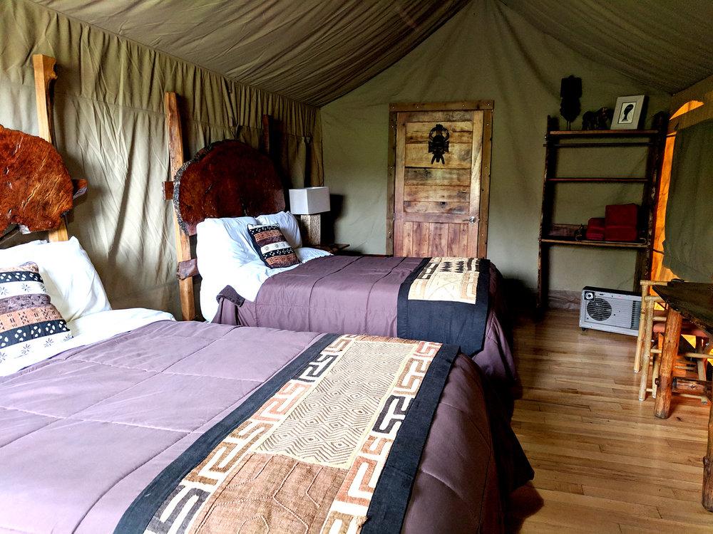 Safari West tent