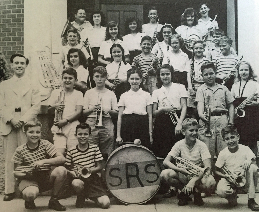 An early band at St. Rita School, under the direction of Mr. Hanley.