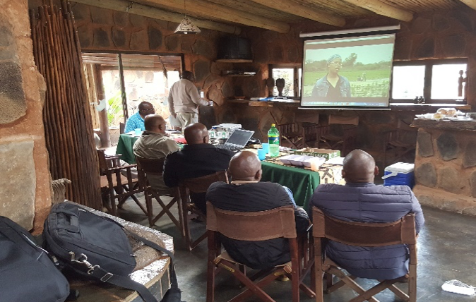 An ERP presentation to the Mabelane CPA, one of the communities participating in the Stewardship Programme.