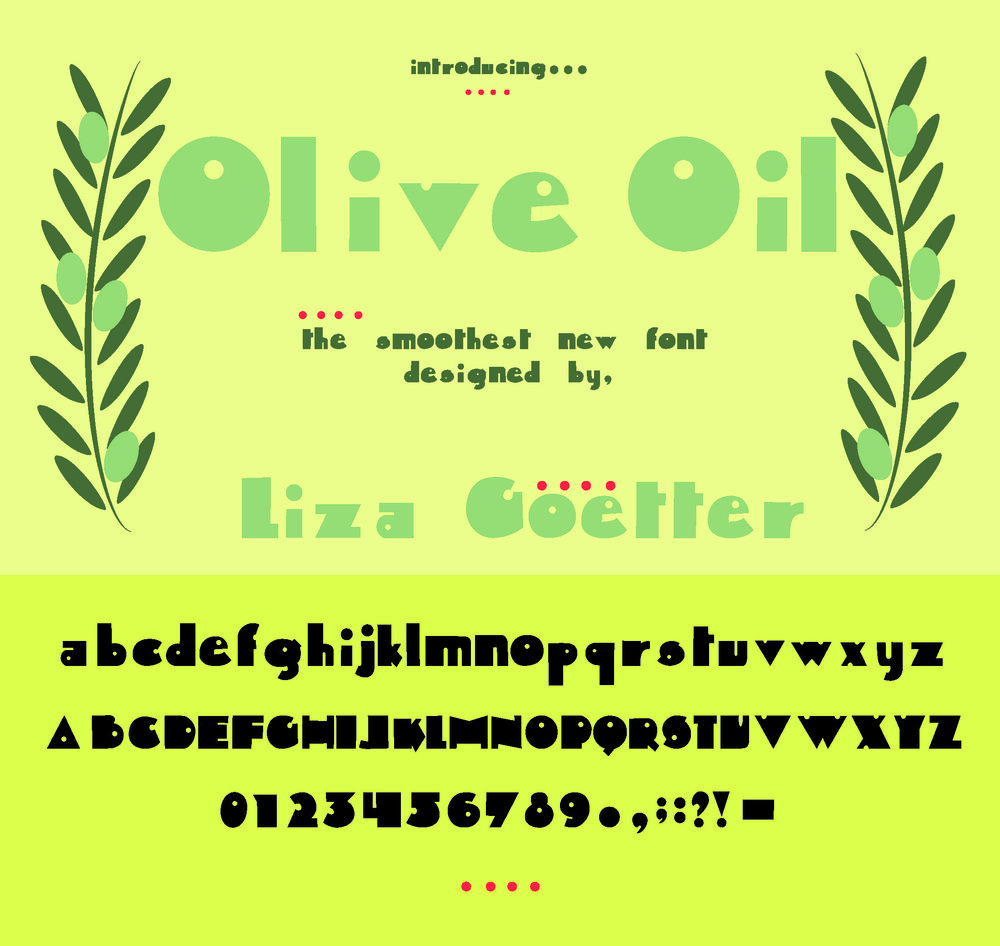 Original Font Poster