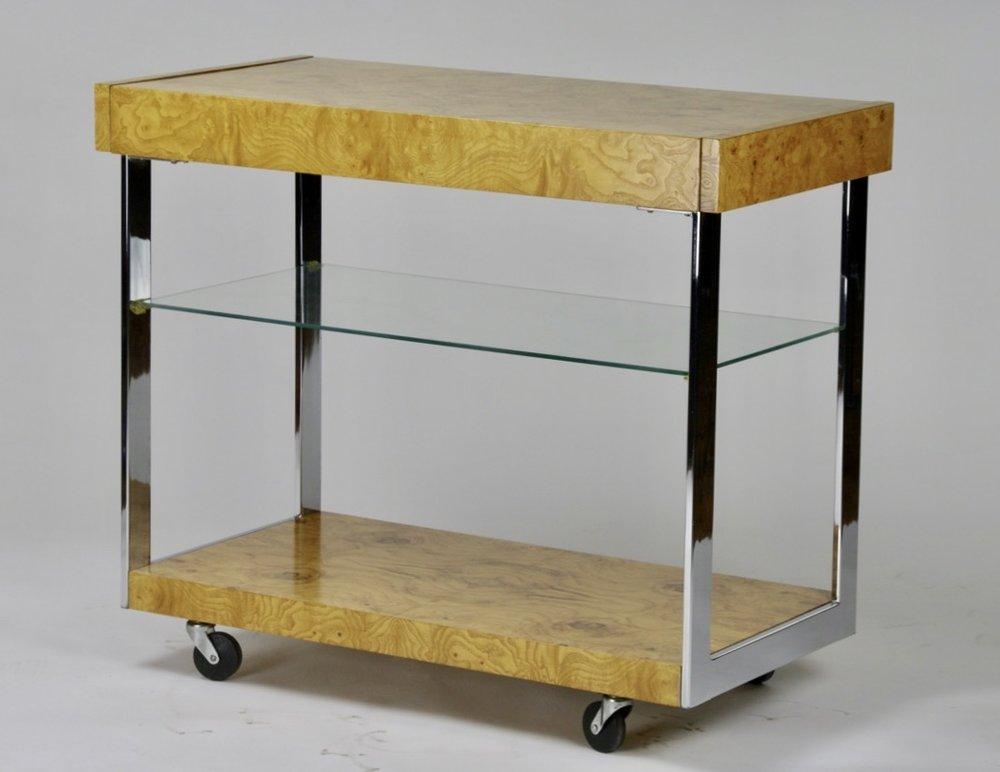 Bar cart by Milo Baughman for Lane - $2,500