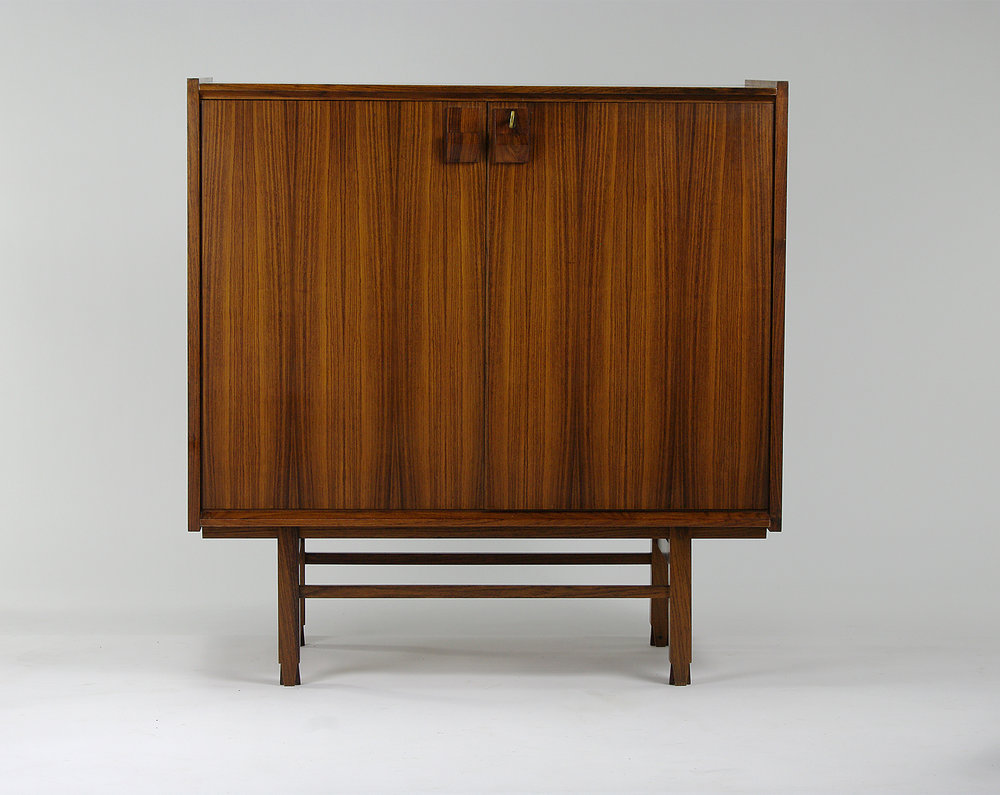 Danish locking rosewood cabinet, 1960s - $1,200