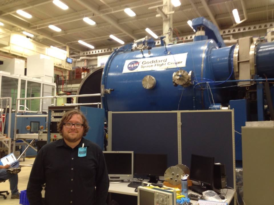 On tour at Goddard Space Flight Center during an annual Aurorasaurus meeting.