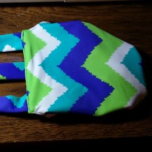 Blue Chevron Diaper