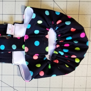 Neon Dots on Black Diaper