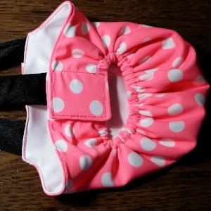 Neon Pink Dots Diaper