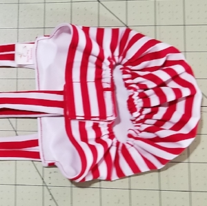 Red White Stripe Diaper