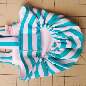 Teal Stripes Diaper