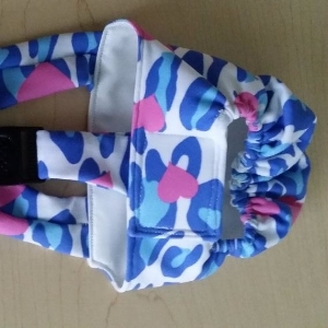 Heart Zebra Diaper