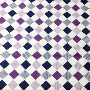 Navy Purple Geometric