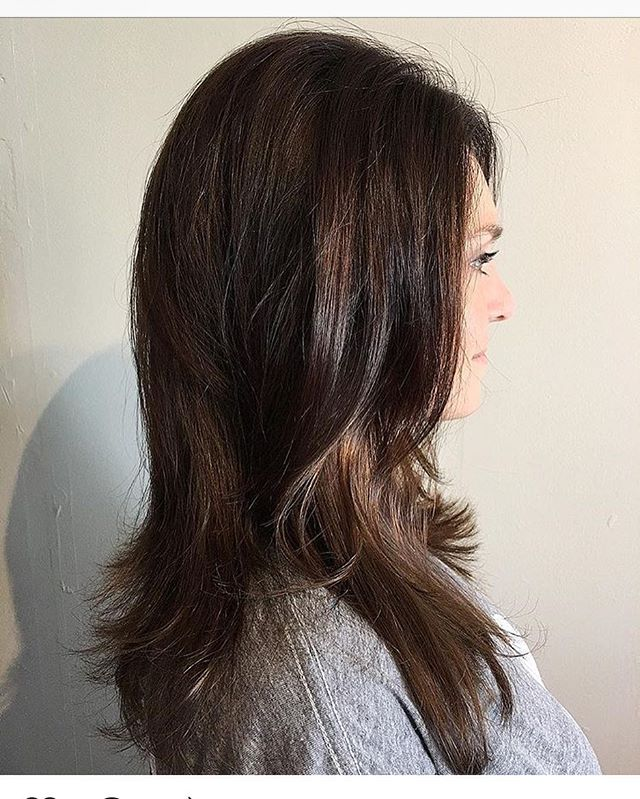 Beautiful dimensional brunette by @mm_hof #fallhair #davines #brunette #behindthechair