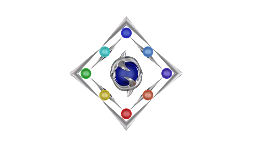 The logo for the series is called the diamond of elemental balance.