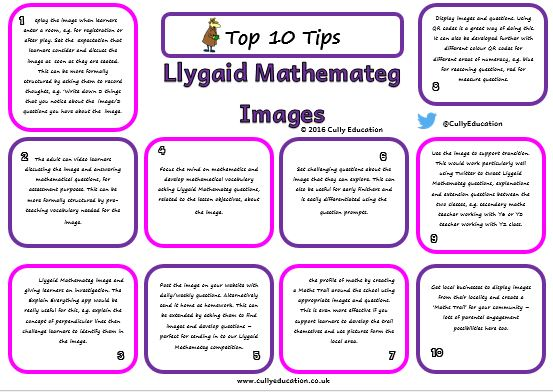 Download Top 10 Tips for using Llygaid Mathemateg - white background