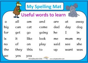 High-Frequency Word Mats