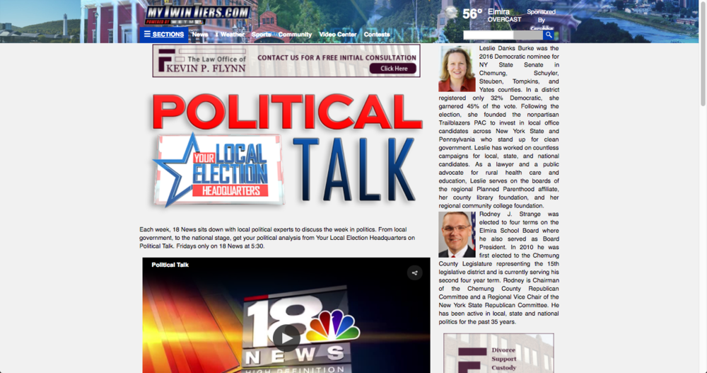 WETM 18 NEWS POLITICAL TALK (solo)