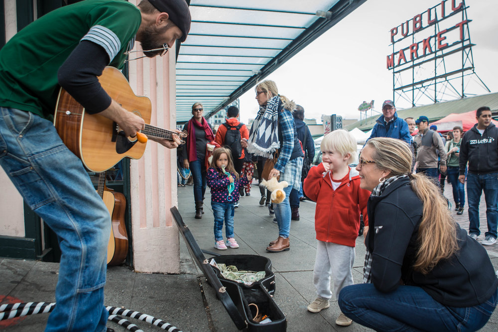 Emory Carl: Pike Place Busker