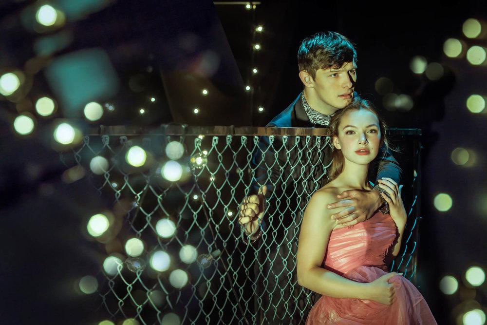 "Joshua Castille as Romeo and Gabriella O'Fallen as Juliet ACT theaters ""Romeo & Juliet"""