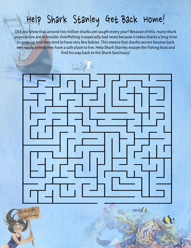 YOUNGER KIDS Shark Stanley's Maze Help Shark Stanley & Friends escape the fishing boat and make it back to the reef!