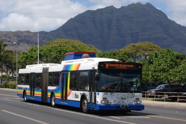 The Bus - With over 500 buses on its fleet, TheBus operates more than 100 routes with about 4,200 stops on O`ahu everyday. It is the island's main means of public transportation with an amazing 72,500,000 annual ridership. TheBus has been voted America's Best Transit System by the American Public Transportation Association for 1994-1995 and 2000-2001, making it the only mass transit system to have obtained this award twice. TheBus is also Going Green by switching their fleet to hybrid, recycling parts, or using water-based parts cleaners and vehicle paint.For iPhone and iPad users, download the application DaBus for accurate arrival times and GPS features. Do not miss another bus with this great app!