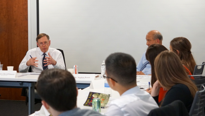 Gen. David Petraeus (Ret.) with HNI Participants