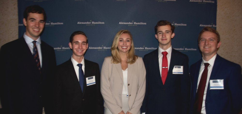 2018 Summer Fellows: Keeghan Sweeney, Dominic Solari, Jordan Hayley, Nick Danby, and Peter Kunze at a summer series event.