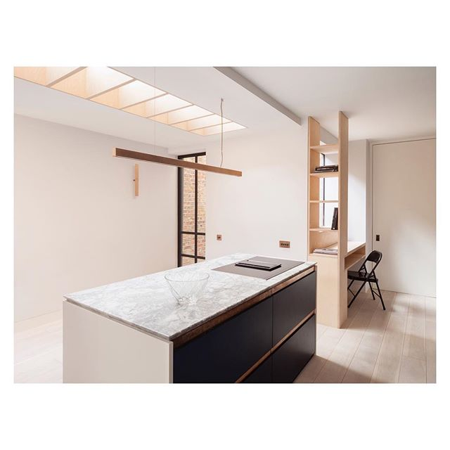Copper accents, plywood joinery and marble tops for a compact kitchen in Kensington Olympia.  _ _ _ _ _  _ #architecture #architecturelovers #interiordesign #architekt #interior #architect #kitchen #apartmenttherapy  #property #interiorinspo #architecturephotography #photooftheday #dreamhome #interiordesigner #light #travel #instagood #minimalism #cornerofmyhome #simple #interiors #kitchendesign #architexture #decor #minimal #simplicity #minimalist #london #inspiration #london