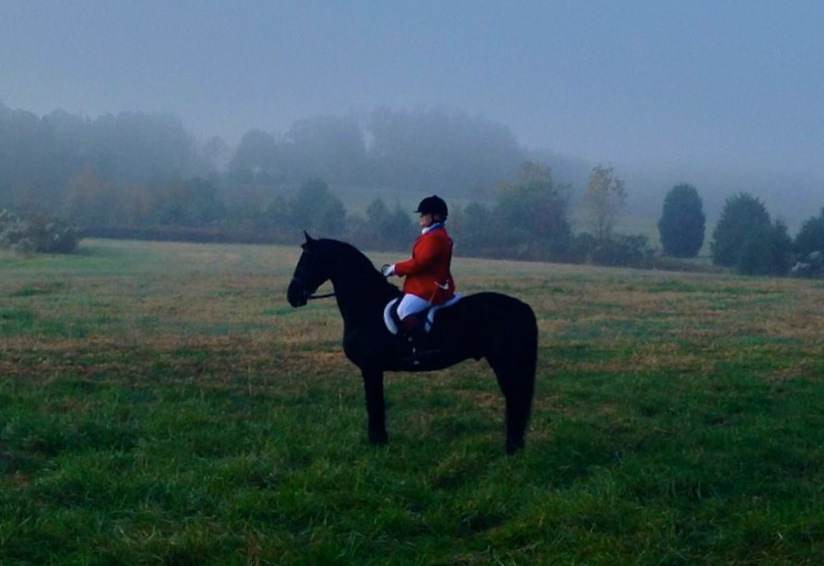 Fortissimo and Laura on an early morning Hunt