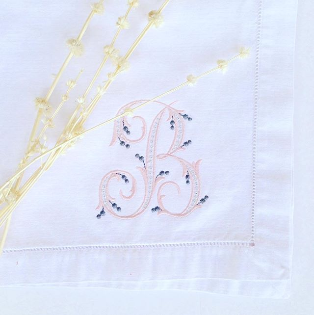 Monogram Monday - let us stitch your name on something special. • • • #monogram  #plainjane #designs #shoplocal  #athensga #babygifts #initials #name
