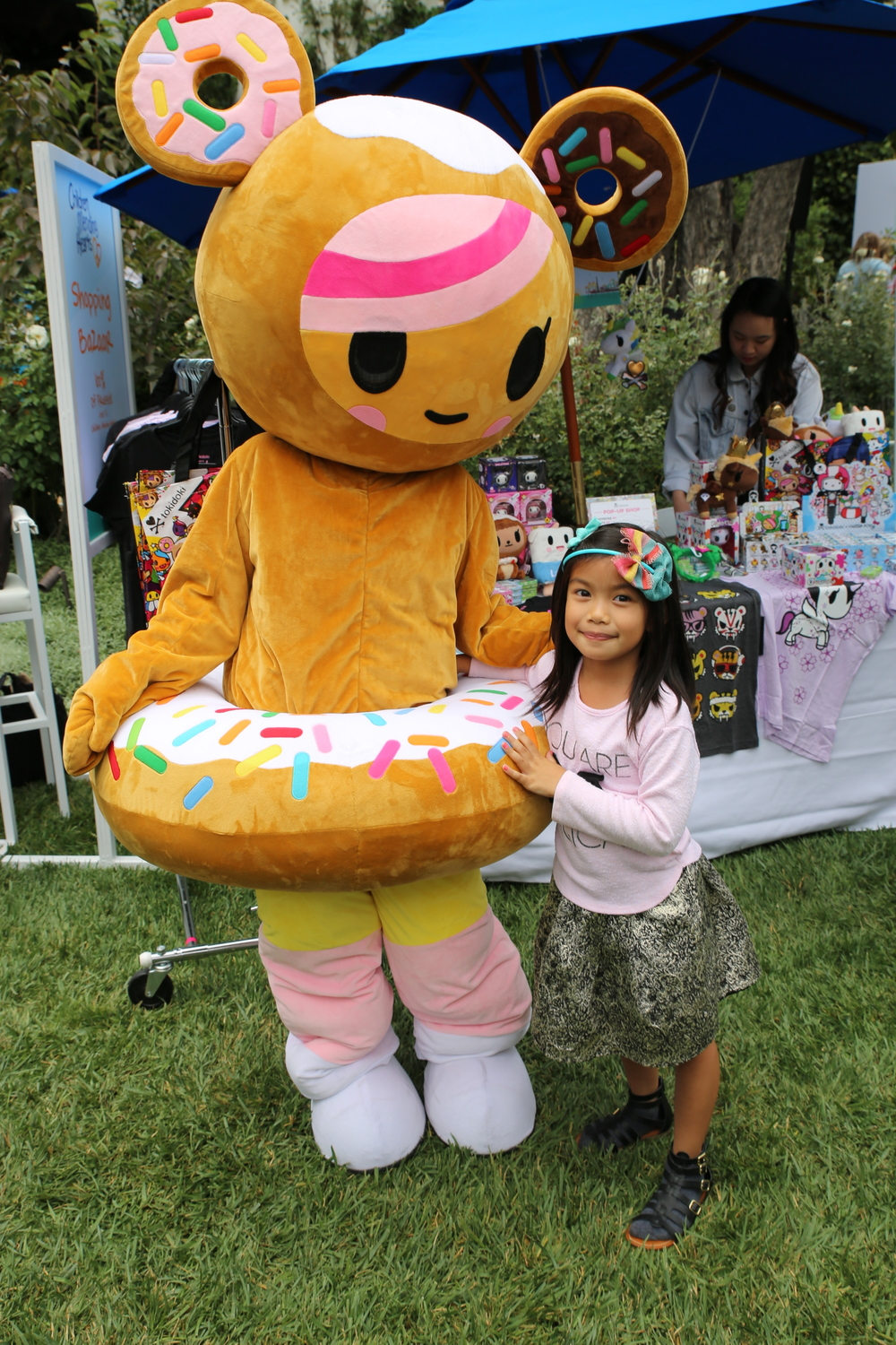 "Tokidoki's ""Donutella"" character was onhand to bring the smiles"