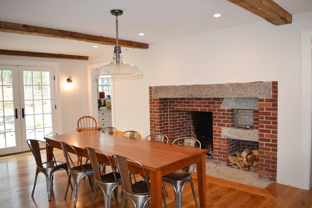 Historic Farm House Antique Fireplace | Dickinson Architects, LLC | Acton, MA