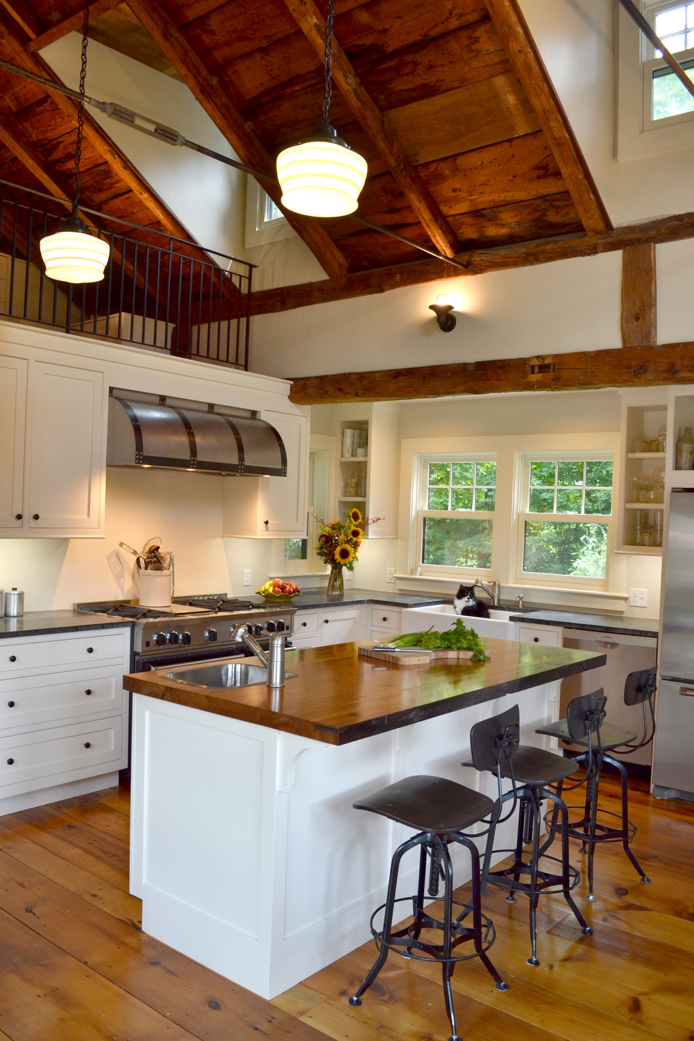 Historic Timber Frame Home Remodel | Dickinson Architects, LLC | Acton, MA