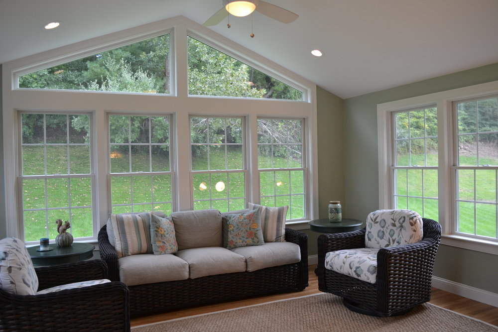 Dickinson Architect | Sunroom home addition | Acton MA