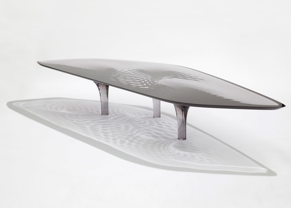Liquid Glacial Table for David Gill Galleries
