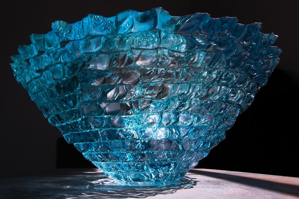 Blue glass ice sculpture, Icelandic series
