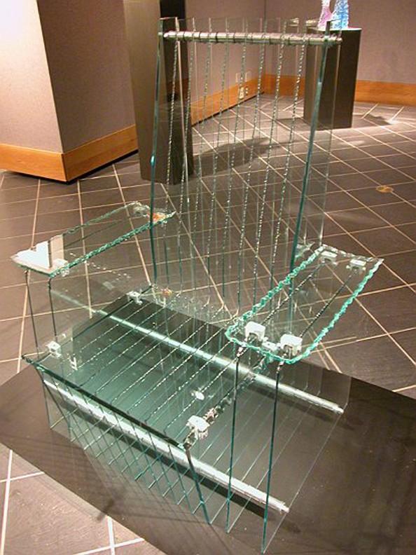 Glass throne; design furniture
