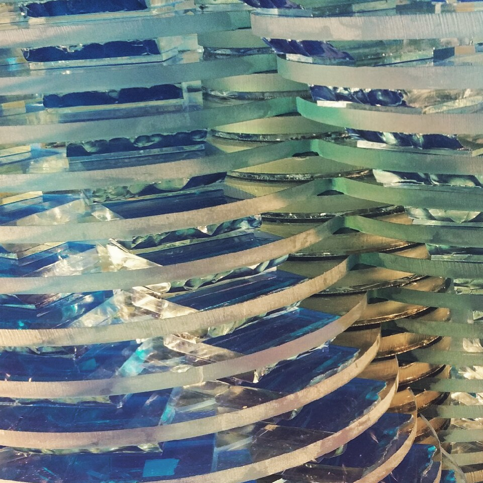 Busy day at the studio - check out this detail shot of a commissioned Tower piece -  #light   #turquoise   #kobalt   #blue