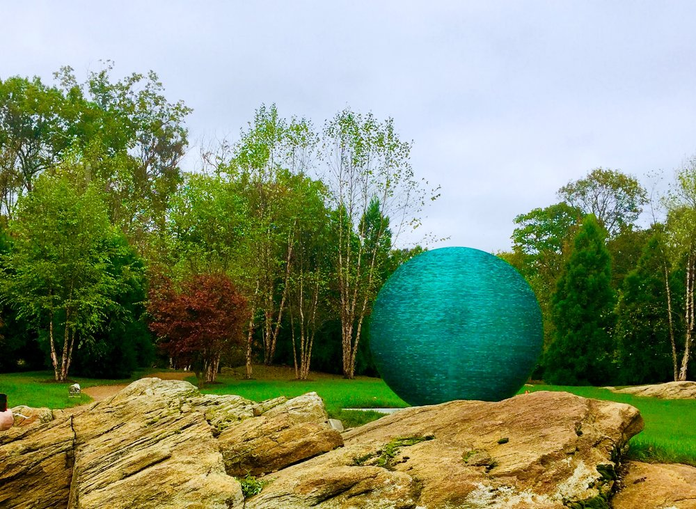 The Biggest Glass Orb sculpture ever; monumental glass sculpture