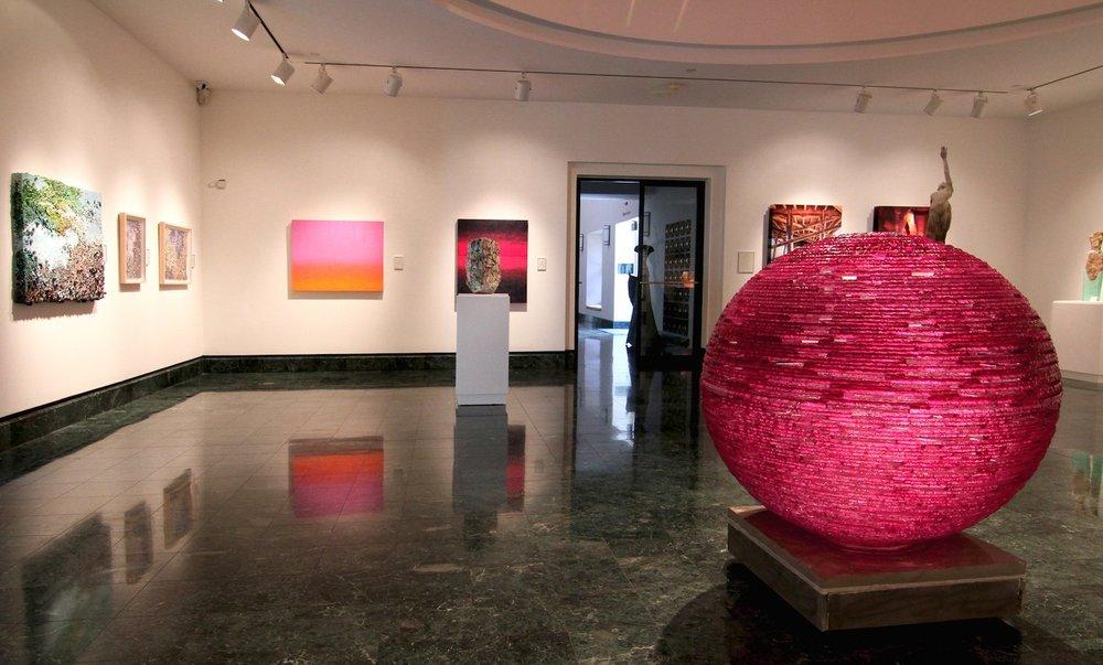 Magenta Orb, Naples Art Museum, FL.