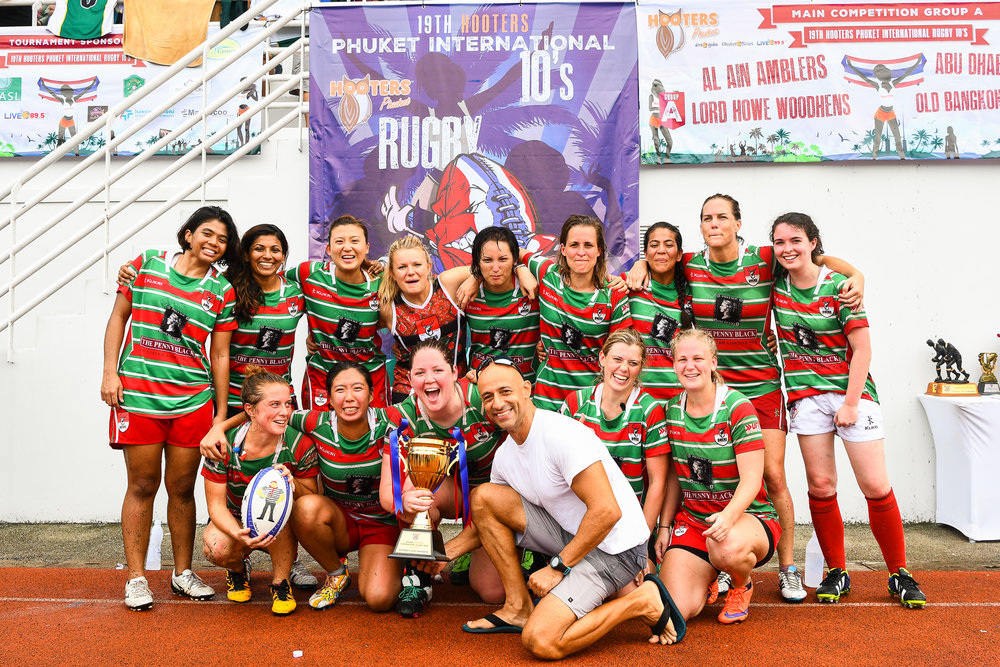 Sunday 28 May - Bucks Ladies winning the Cup Finals with a score 7-5 against Bangkok Bangers Belles at Thanyapura Phuket in Phuket, Thailand. (Credit Image: Thailand Photo SEALs Sports Photography) (Photographer: Naratip Golf Srisupab)