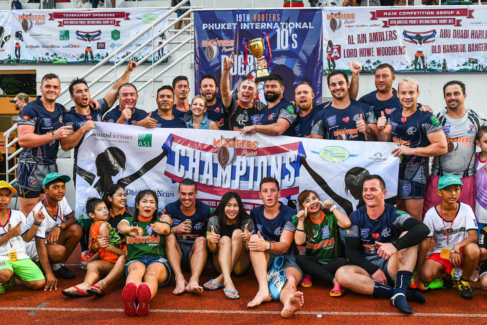 Sunday 28 May - Vagabonds clinch the 19th Hooters Phuket International Rugby 10's Cup Final at Thanyapura Phuket in Phuket, Thailand. (Credit Image: Thailand Photo SEALs Sports Photography) (Photographer: Naratip Golf Srisupab)