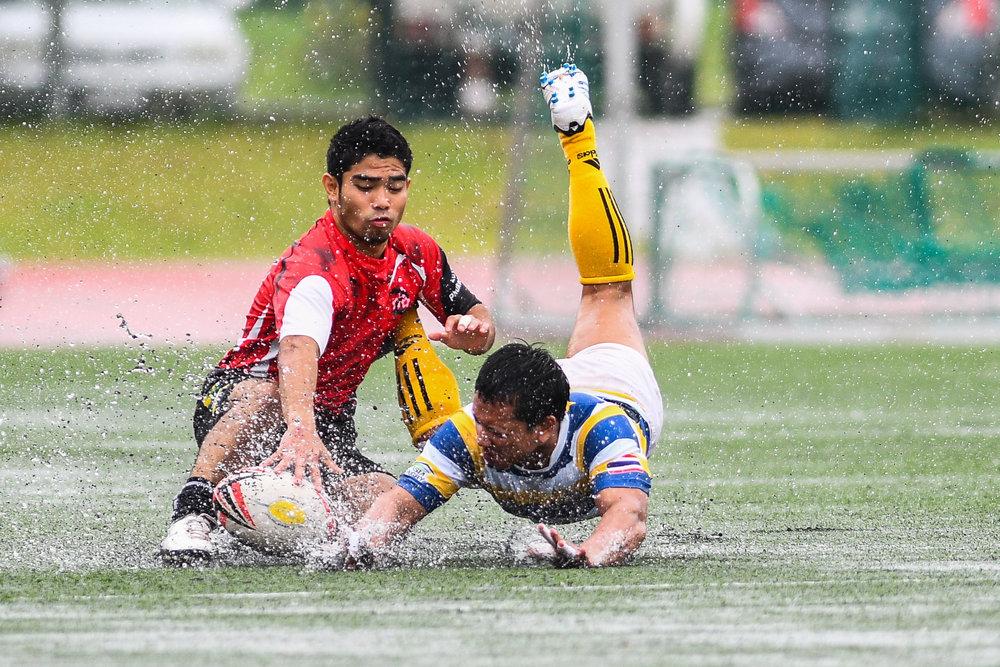 Sunday 28 May - Asian Japanese Dragons vs Phuket Prince of Songkla morning match as the rain kept pouring over Thanyapura Phuket in Phuket, Thailand. (Credit Image: Thailand Photo SEALs Sports Photography) (Photographer: Naratip Golf Srisupab)