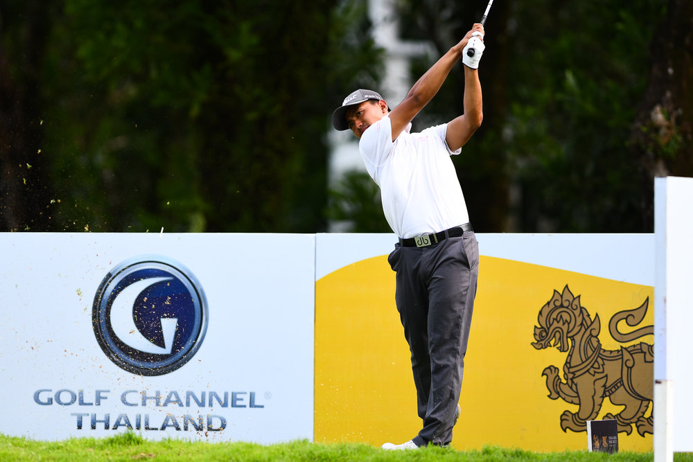 Saturday 27 May - Pawat Prachoomsrisakul 8th Hole, Par 3 slams dunk it in for a hole-in-one at Laguna Phuket Golf Course in Phuket, Thailand. (Credit Image: Thailand Photo SEALs Sports Photography) (Photographer: Naratip Golf Srisupab)