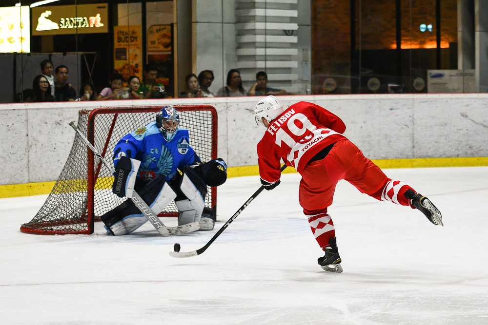 Saturday 01 Apr - Russia CCCP vs Russia Amhel at The Rink Central Rama IX in Bangkok, Thailand. (Credit Image: Thailand Photo SEALs Sports Photography) (Photographer: Naratip Golf Srisupab)