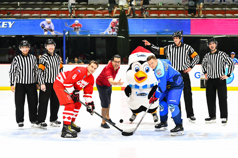 Saturday 01 Apr - Movenpick Bangkok 15 Finals puck drop - Russia CCCP vs Russia Amhel at The Rink Central Rama IX in Bangkok, Thailand. (Credit Image: Thailand Photo SEALs Sports Photography) (Photographer: Naratip Golf Srisupab)