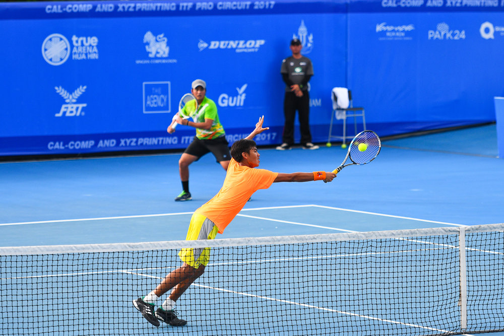 Friday 09 Jun - Nutthanon KADCHAPANAN (THA) and Palaphoom KOVAPITUKTED (THA) DoubleS Final on Centre Court. Score 7-5, 7-5 taking home the trophy at True Arena Hua Hin in Prachuap Kiri Khan, Thailand. (Credit Image: Thailand Photo SEALs Sports Photography) (Photographer: Naratip Golf Srisupab)
